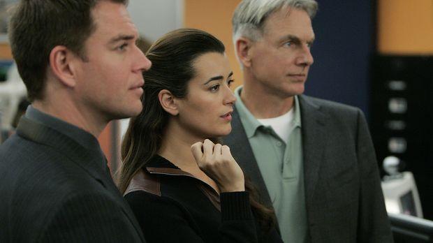 Versuchen einen neuen Fall zu lösen: Gibbs (Mark Harmon, r.), Tony (Michael W...