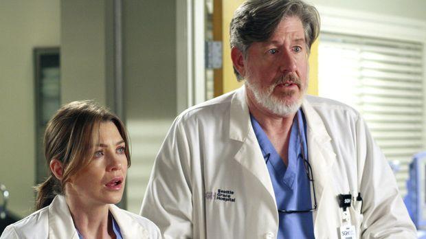 Meredith (Ellen Pompeo, l.) und Norman (Edward Herrmann, r.) geraten in einen...