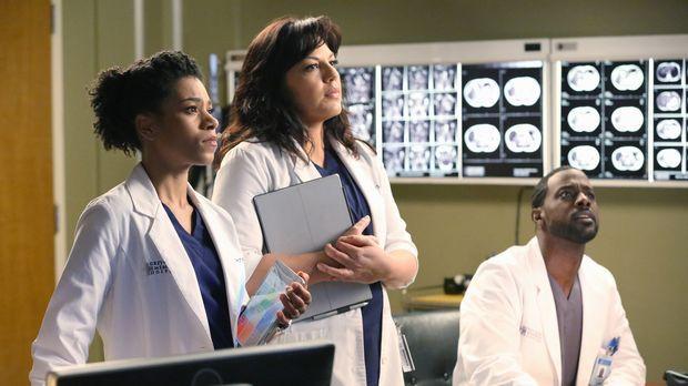 Ein Erdbeben sorgt im Grey Sloan Memorial Hospital für Chaos: Maggie (Kelly M...