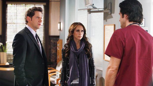 Jim (David Conrad, r.) erzählt Eli (Jamie Kennedy, l.) und Melinda (Jennifer...