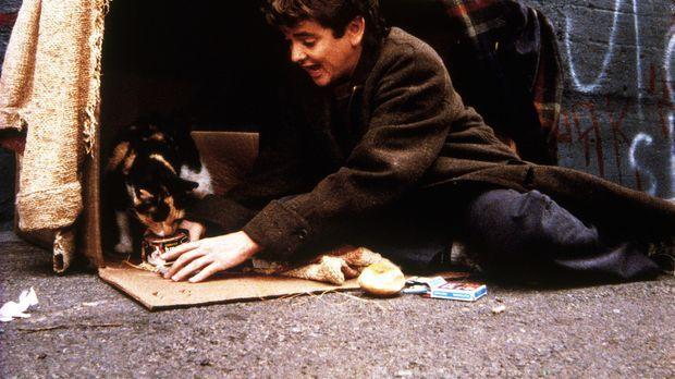 Arnie (John Franklin), ein zurückgebliebener Junge, der seinem Vater davongel...