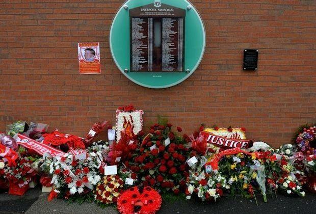 Die Hillsborough-Gedenkstätte an der Anfield Road