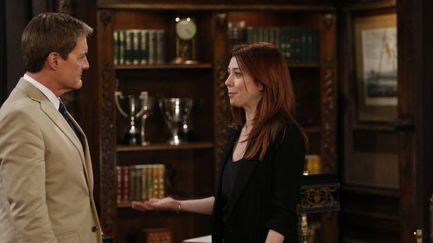 Der Captain (Kyle MacLachlan, l.) bittet Lily (Alyson Hannigan, r.), für ein...
