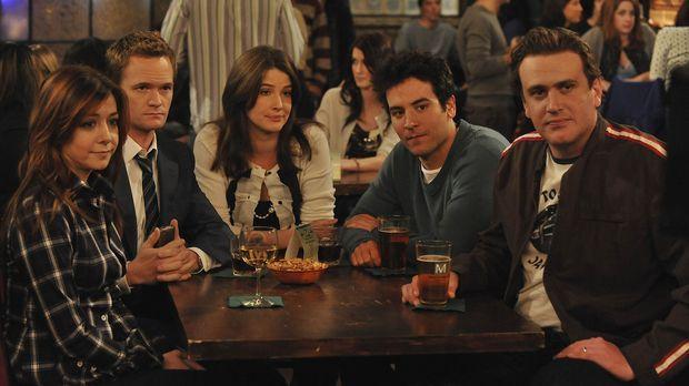 Die perfekte Woche: Robin (Cobie Smulders, M.), Ted (Josh Radnor, 2.v.r.), Ba...