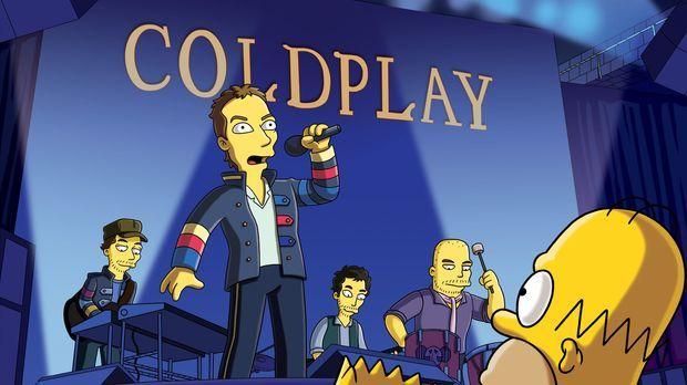 Homer (vorne r.) hat in Lotto gewonnen und genießt daraufhin mit Bart (vorne...