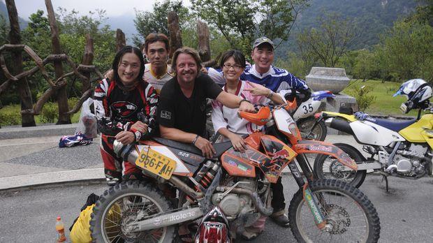 Der vielleicht beste Motorbike-Trip seines Lebens: Die Strecke durch die Berg...