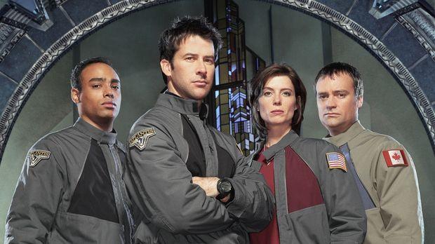 Sie brechen auf in eine neue Welt: Lieutenant Aiden Ford (Rainbow Francks, l....