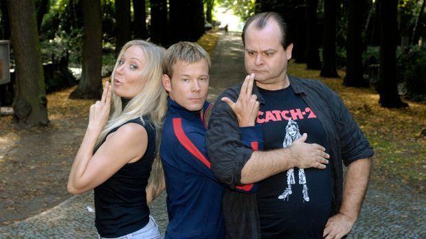Janine Kunze, Mathias Schlung und Markus Majowski sind