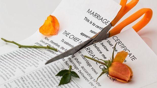 Scheidungen haben in Deutschland eine lange Tradition