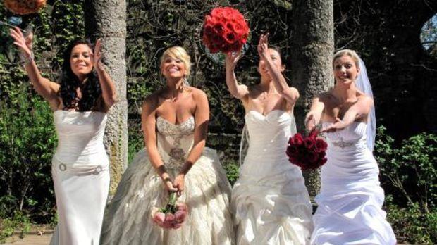 Vier Bräute treten an, im Wettkampf um das schönste Hochzeitsfest: Lisa (l.),...