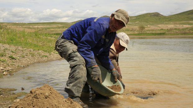 Goldgräber in der Mongolei