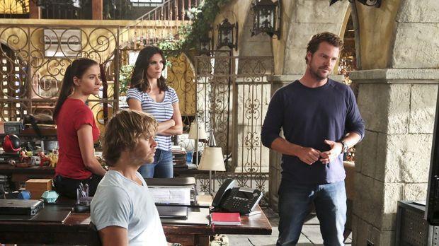 DEA-Agentin Talia Del Campo (Mercedes Mason, l.) wendet sich an Callen (Chris...