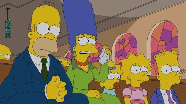 Müssen Abschied von Chip Davis nehmen: (v.l.n.r.) Homer, Marge, Maggie, Lisa...