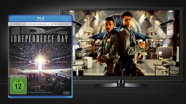 Independence Day - Blu-ray Cover und Szene © Twentieth Century Fox Home Enter...