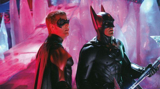 Batman (George Clooney, r.) und Robin (Chris O'Donnell, l.) kämpfen gegen Mr....