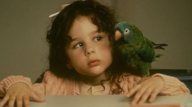Weil der gescheite Papagei Paulie die kleine Marie (Hallie Kate Eisenberg, l....