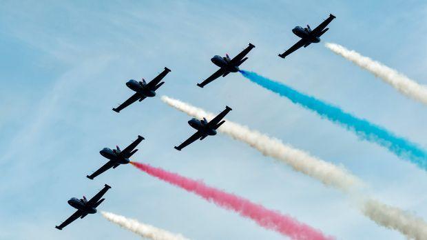 Bei der Fleet Week, einer der größten Airshows Nordamerikas, die von der US N...