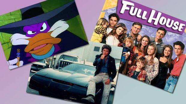 collage zu titelmelodien 90er