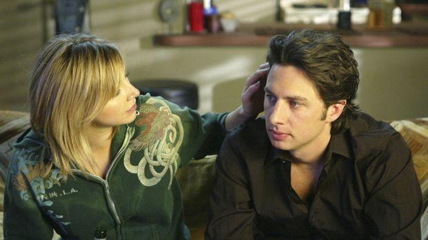 J.D. (Zach Braff, r.) übernimmt für Elliot (Sarah Chalke, l.) einen Job als C...