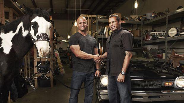 Endlich erlaubt ihm seine Frau, dass sich Steve (Steve McHugh, l.) ein Motorr...