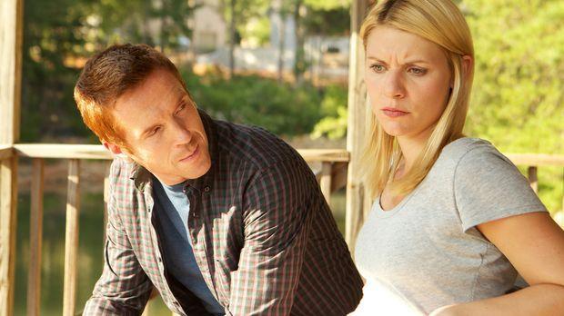 Carries (Claire Danes, r.) Gefühle für Brody (Damian Lewis, l.) lassen die Gr...
