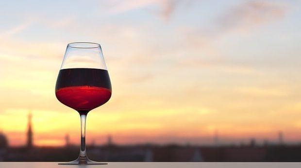 Wein-Sonnenuntergang