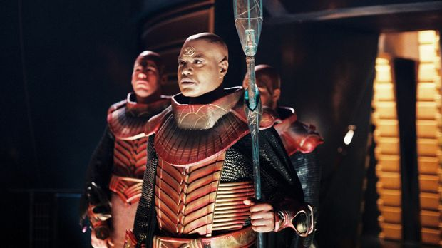 Wer ist Teal'c (Christopher Judge, M.) wirklich? © MGM GLOBAL HOLDINGS INC.....