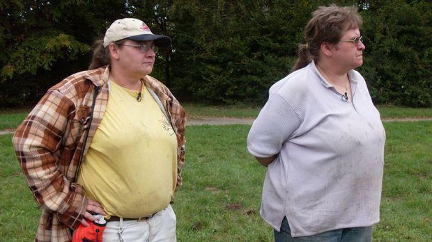 Zusammen bringen sie 260 Kilo auf die Waage: Ute und Sabine Stimmer aus Gelse...
