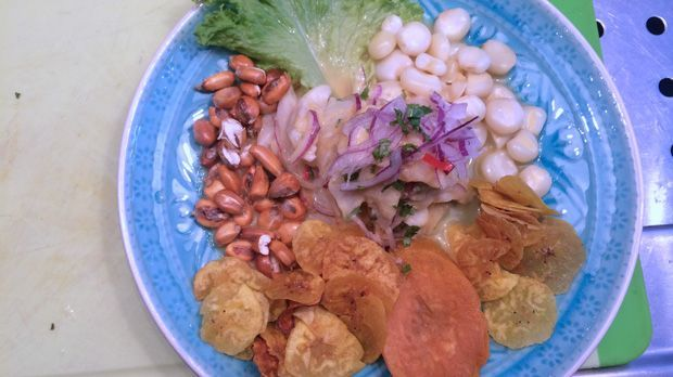 Ceviche in Tigermilch
