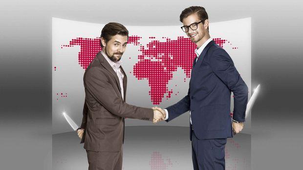 Globales Kräftemessen: Joko (l.) & Klaas (r.) spielen um die Welt! © Marcus H...