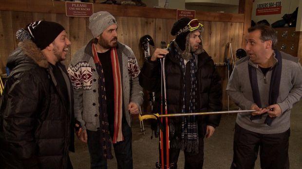 Die Skigebiete rufen und (v.l.n.r.) Sal, Brian, James und Joe folgen dem Ruf...