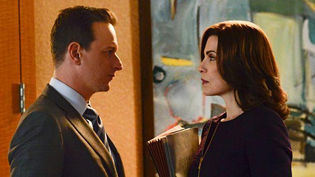 Wird Alicia (Julianna Margulies, r.) sich wirklich auf Wills (Josh Charles, l...