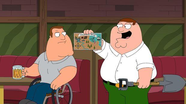 Peter (r.) entdeckt in einem Familienrestaurant auf einem Platzset eine Schat...