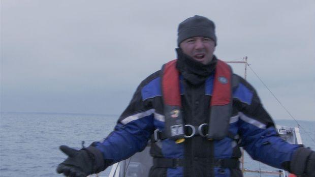 Da Lake Saint Pierre langsam zuzufrieren beginnt, schickt Ray Tremblay (Bild)...