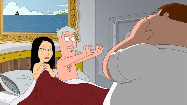 Peter (r.) und Lois sind zu einem Abendessen bei Lois' Eltern eingeladen. Als...