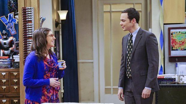 Weil Sheldon (Jim Parsons, l.) Amys (Mayim Bialik, l.) Geburtstag unvergessli...