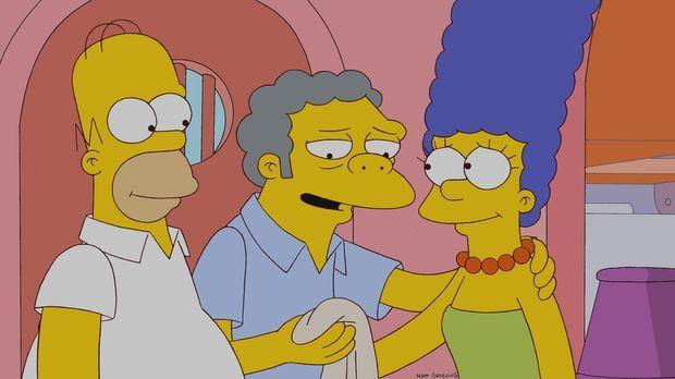 Der Stoff, aus dem die Träume sind: Homer (l.), Moe (M.) und Marge (r.) ... ©...