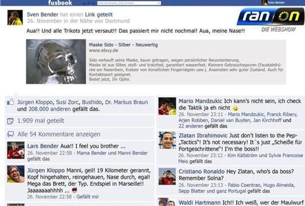 Sven Bender vom BVB kauft sich eine Maske - und postet das natürlich auf fusbook