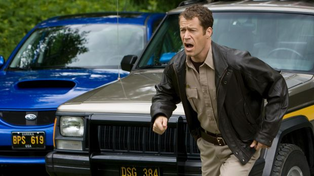 Aufregung in Eureka: Jack Carter (Colin Ferguson) ... © Universal Television