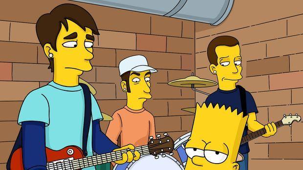 Bart (vorne r.) mit seinen neuen Freunden von Blink 182 ... © TWENTIETH CENTU...