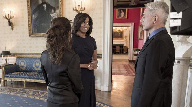 Navy CIS - Gibbs und Michelle Obama © Jackson Lawrence 2016 The White House /...