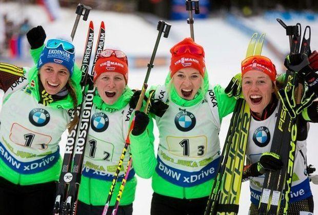 Deutsche Frauenstaffel greift nach der Goldmedaille