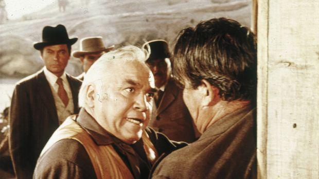 Kann Ben (Lorne Greene, l.) den Pony-Express noch retten? © Paramount Pictures