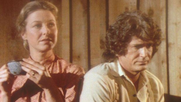 Charles (Michael Landon, r.) und Caroline (Karen Grassle, l.) machen sich gro...