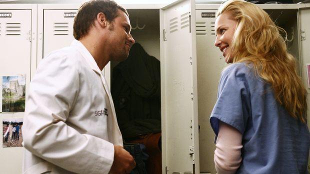 Izzie (Katherine Heigl, r.) hat sich die der Abstinenz zu Alex (Justin Chambe...