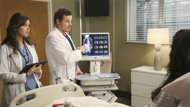 Dr. Alex Karev (Justin Chambers, r.) und Dr. Jo Wilson (Camilla Luddington, l...