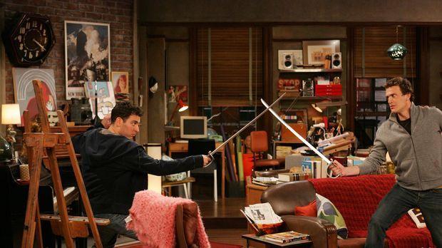 Zwischen Ted (Josh Radnor, l.) und Marshall (Jason Segel, r.) kommt es zu ein...