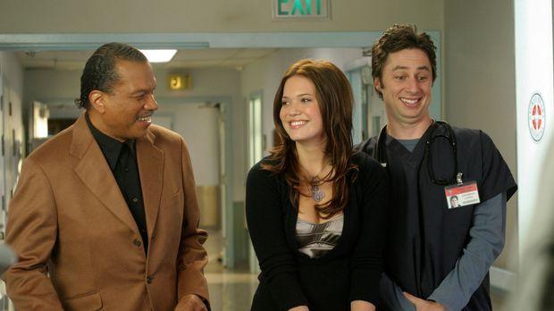 J.D. (Zach Braff, r.) und Julie (Mandy Moore, M.) haben es mit einem besonder...