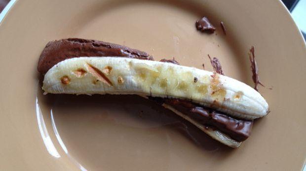 Gewaffelte Schoko-Banane