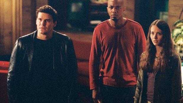 Cordelia ist wieder zurück: Angel (David Boreanaz, l.), Fred (Amy Acker, r.)...
